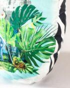 Designers Guild Kissen Reveries Vert Buis Schwarz-Weiss Dekokissen Muster Tiere Blau Pflanzen