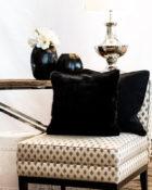 Sessel Wohnung Fell Lampe Vasen