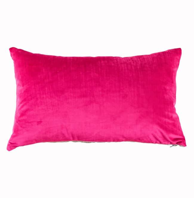 Designers Guild Kissen Trentino Magenta Pink Samt Rechteck Pink Cushion