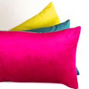 Kissen Dekokissen Pink Gelb Türkis
