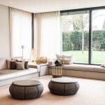 lounge sofa wohnzimmer sofa aus einem Guss umlaufende bank am fenster