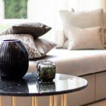 lounge sofa wohnzimmer Sofa Kissen Tisch Vase