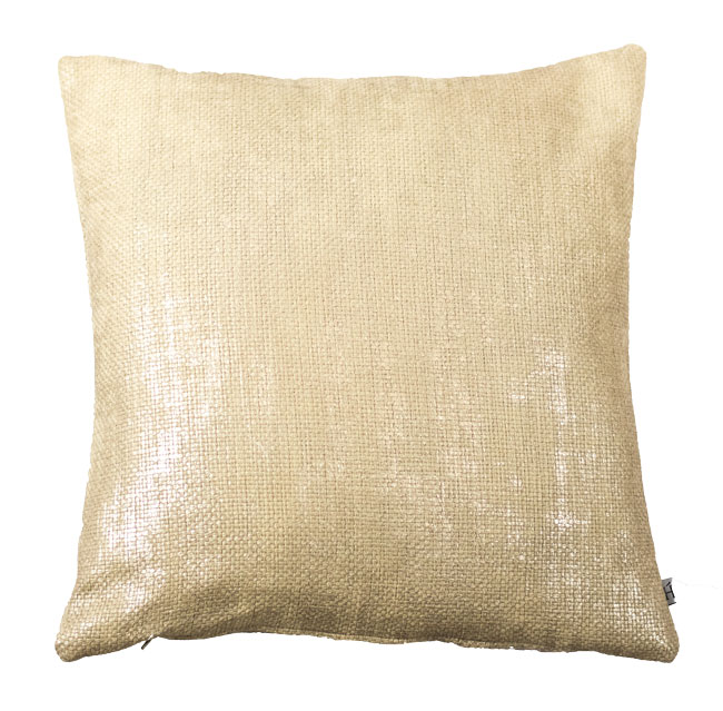 HOATÉ Kissen Harriman Gold Quadrat Struktur Glanz Dekokissen