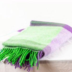 Designers Guild Decke Erradale Crocus Lila-Grün Decke Fransen Grün Lila Throw