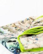 Designers Guild Decke Issoria Jade Grün-Blau Tagesdecke Schmetterling Grün Beige Creme