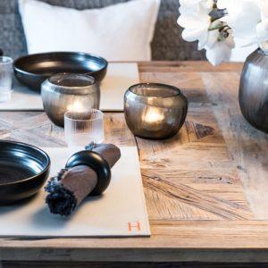 Gedeckter Tisch Besteck Deko Set