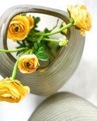 Guaxs Vase Patara Smokegrey Glasvase hochwertiges Unikat