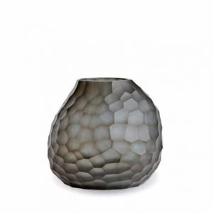 Guaxs Vase Otavalo Round Indigo Smokegrey Glasvase Design Vase hochwertiges Unikat