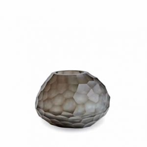 Guaxs Vase Otavalo Small Indigo Smokegrey Glasvase Design Vase hochwertiges Unikat