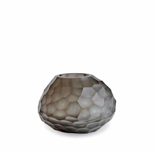 Guaxs Vase Otavalo Small Indigo Smokegrey Glasvase Design Vase