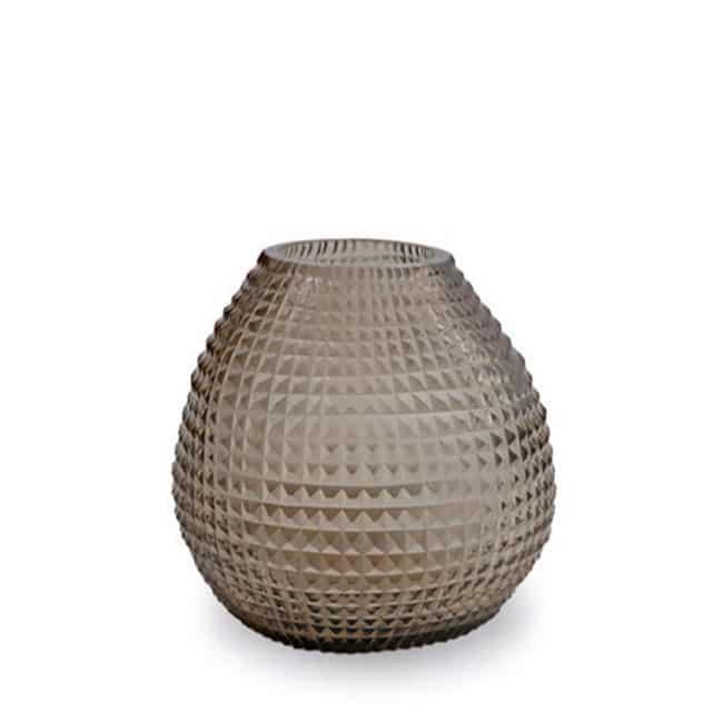 Guaxs Vase Otavalo Round Smokegrey Glasvase Vase Smokegrey hochwertiges Unikat