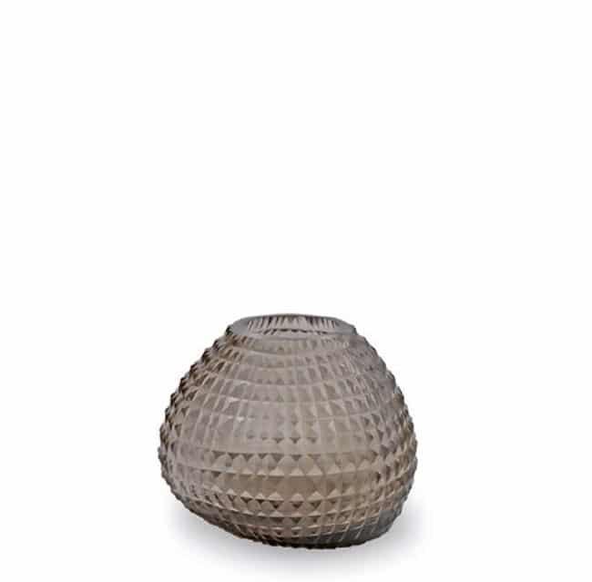Guaxs Vase Otavalo Small Smokegrey Glasvase Vase Smokegrey hochwertiges Unikat