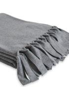 Loop Grey Melange Decke Fleecedecke Tagesdecke