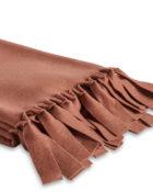 Luiz Loop Terra Rossa Decke Fleecedecke Tagesdecke rote Decke weich warm Decke mit Fransen