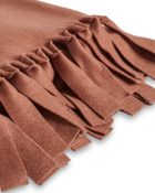 Plaid mit Fransen Loop Terra Rossa Decke Fleecedecke Tagesdecke