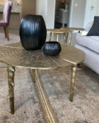 Richmond Interiors Beistelltisch Aya Bestelltisch gold Wohnzimmertisch Couchtisch