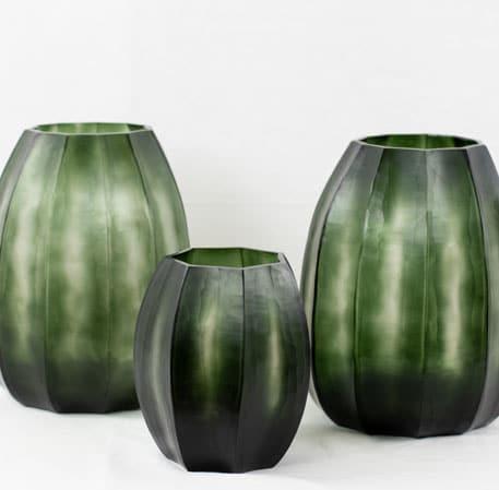 Guaxs Vase Koonam grünes Glas grüne Vase hochwertig