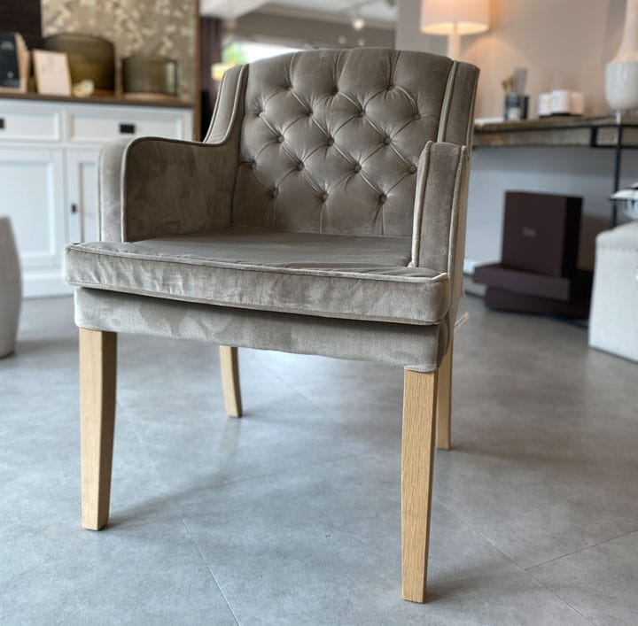 Richmond Interiors Stuhl Brooklyn grau Esstisch Stuhl Essstuhl Esszimmerstuhl