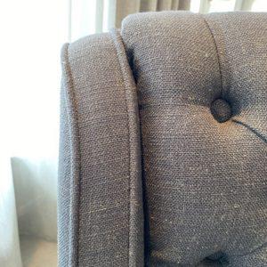 Designers Guild Stuhl Stitch grau Esstisch Stuhl Essstuhl Esszimmerstuhl
