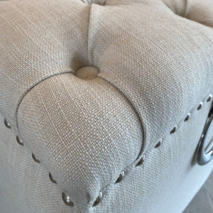 Richmond Interiors Pouf Brooke Hocker grau mit Haken