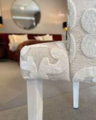 Designers Guild Stuhl Newport weiß Esstisch Stuhl Essstuhl Esszimmerstuhl