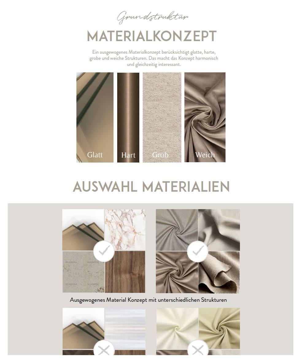 Einrichten mit Taupe Trendfarbe Materialkonzept