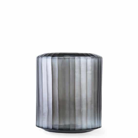 Guaxs Omar Medium Indigo & Smokeygrey Guaxs Online Shop Guaxs Windlicht Guaxs Vase Smokeygrey Rauchglas