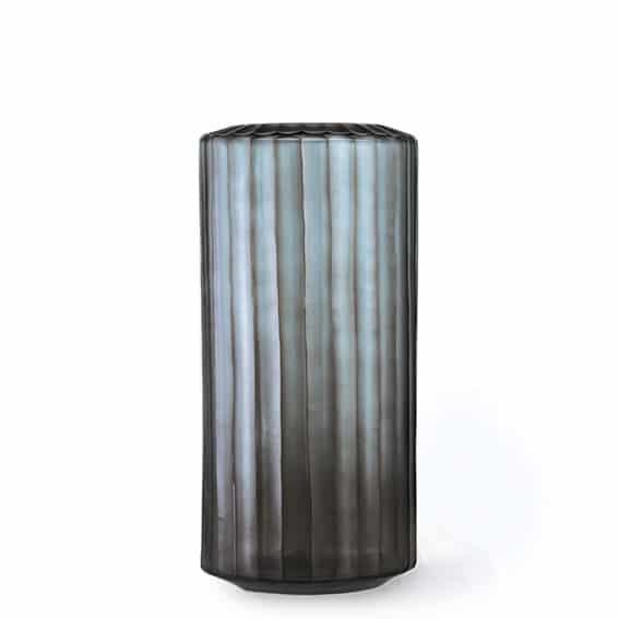 Guaxs Omar Tall Indigo & Smokeygrey Guaxs Online Shop Guaxs Vase Smokeygrey Glasvase Rauchglas
