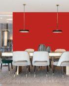 Little Greene Wandfarbe Atomic Red 190 Knalliges Rot Wandfarbe Kräftiges Rot Wandanstrich Leuchtendes Rot Wandfarbe