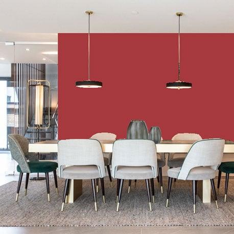 Little Greene Wandfarbe Cape Red 279 Kirschrot Wandfarbe Kräftiges Rot Wandanstrich Leuchtendes Rot Wandfarbe