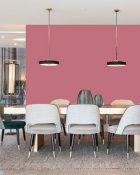 Little Greene Wandfarbe Carmine 189 Freundliche Wandfarbe Rosé Intensive Wandfarbe Dunkelrosa Kräftiger Rosaton Wandfarbe