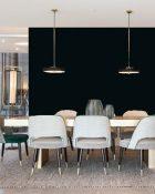 Little Greene Wandfarbe Jack Black 119 Raumwirkung dunkle Farben Schwarze Wandfarbe Wände schwarz streichen