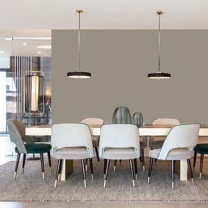 Little Greene Wandfarbe Lead Colour 117 Intensive Wandfarben Kräftige Graue Wandfarbe Kühle graue Wandfarbe