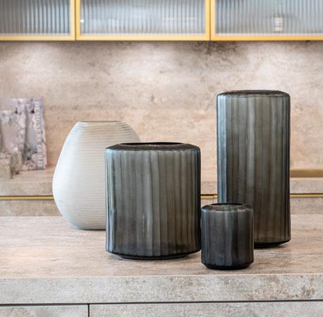 Dekoration Guaxs Serie Omar Indigo & Smokeygrey Guaxs Online Shop Windlicht Glasvase Teelichthalter Ausgefallene Wohnaccessoires