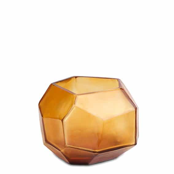 Guaxs Cubistic Small Clear Gold Guaxs Online Shop Guaxs Windlicht Guaxs Teelichthalter Gold Bernstein