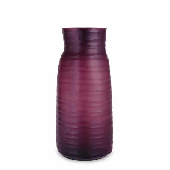Guaxs Mathura Tall Amethyst Guaxs Online Shop Guaxs Glasvase Mathura Tall Rauchglas Beerenton Dunkellila Dunkelrot
