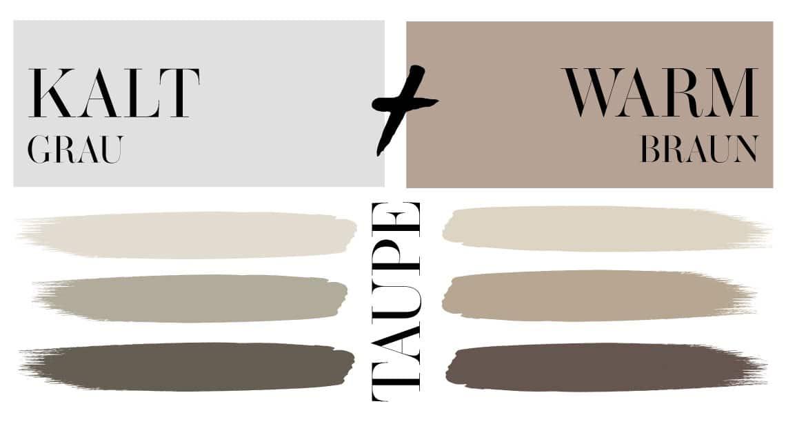 Was ist Taupe Mit Taupe kombinieren Warmes Grau Grau Braun Grau Beige Maulwurfsgrau Mischton aus grau und braun Taupe Nuancen