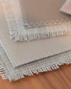 LUIZ Leinen Tischset Madison Taupe | 2er-Set Ablage Ablage Kunstleder Accessoires Essbereich