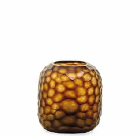 Vase Somba M Guaxs braun geschliffen