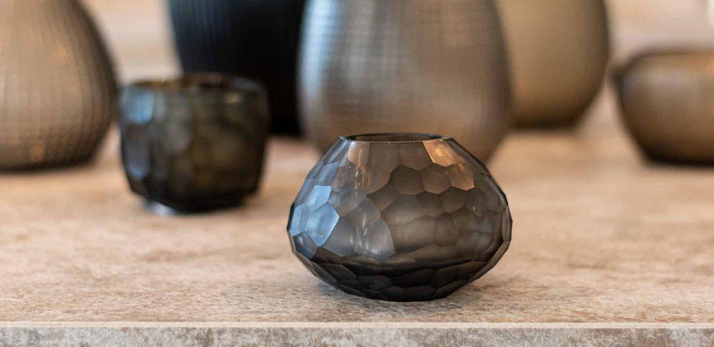 Guraxs Vase Otavalo Smokegray Indigo Deign Dekoration Teelichthalter